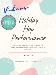 Holiday Hop Videos Chambers Music Studio Construction Check this out Music Piano Violin Viola Bass Cello Strings Singing Voice Guitar Ukulele Brass Trumpet Euphonium Woodwinds Oboe Flute Saxophone Clarinet Drums Percussion Lessons Classes Teachers Instructors Online Virtual Columbus, OH Bexley,